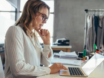 Small business owner implementing business trends 2019 for her business.