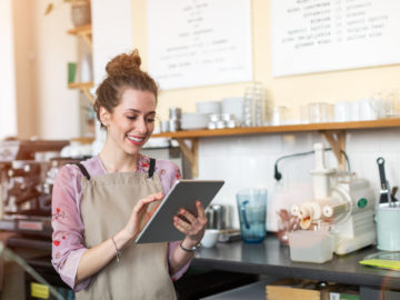 Business owner learning about funding business growth