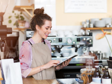 Business owner researching business funding